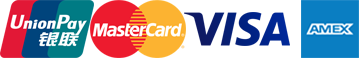 Mastercard | Visa | Union | Amex Pay Logo